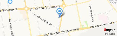 Рублёвка на карте Ижевска