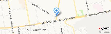 Юг-2 на карте Ижевска