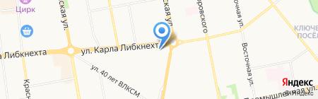 Удмуртская 161 на карте Ижевска