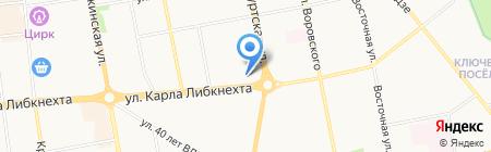 Комплексный центр социального обслуживания населения №1 Первомайского района на карте Ижевска