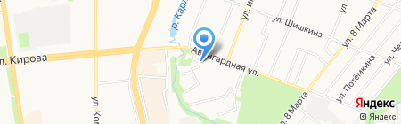 Цех наружной рекламы на карте Ижевска