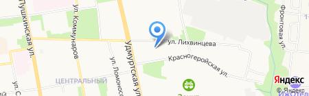 Школа высшего спортивного мастерства на карте Ижевска