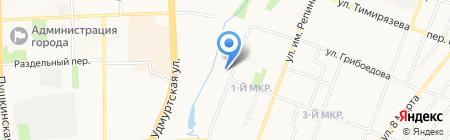 Детский сад №171 на карте Ижевска