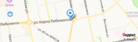 Дарди на карте Ижевска