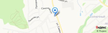 Шале на карте Ижевска