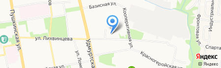 Пункт отбора на военную службу по контракту на карте Ижевска