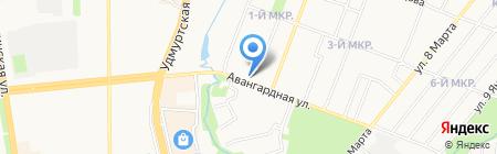 Цветочный магазин на карте Ижевска