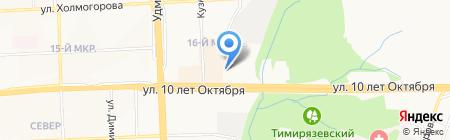 Общежитие на карте Ижевска