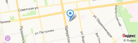 Анкон на карте Ижевска