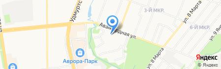 Многофункциональный центр города Ижевска на карте Ижевска
