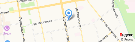 Форсаж Tyre & Service на карте Ижевска