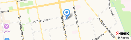 Беларусь на карте Ижевска