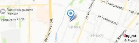 Народный на карте Ижевска