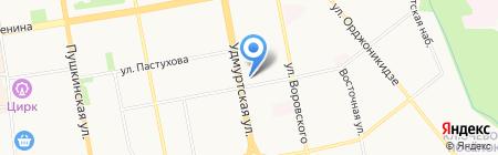 Миндаль на карте Ижевска