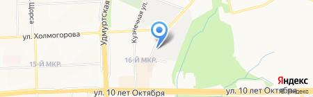 Автотех-Мастер на карте Ижевска