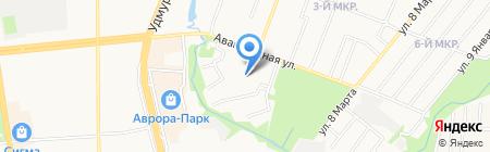 Детский сад №166 на карте Ижевска