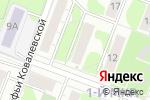 Схема проезда до компании Ростап в Ижевске