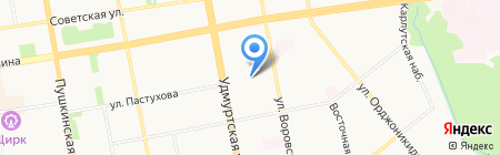 Детский сад №92 на карте Ижевска