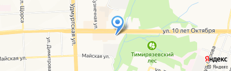 Отдел Пенсионного фонда России Октябрьского района на карте Ижевска