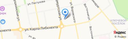 Чаровница на карте Ижевска