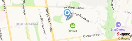 Зенит на карте Ижевска