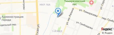 Детский сад №160 на карте Ижевска
