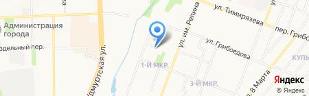 Компания по вывозу отходов на карте Ижевска