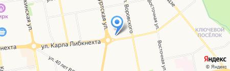Цветы на карте Ижевска