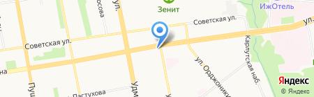Республика тур на карте Ижевска