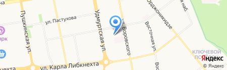 Ижтрудсервис на карте Ижевска