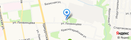 Джон Сильвер на карте Ижевска