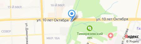 Мега на карте Ижевска
