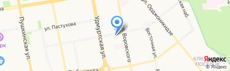 Атон на карте Ижевска