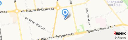 Локон на карте Ижевска