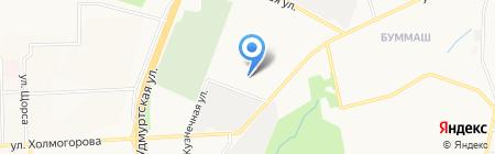 Ижевский завод Т.И.М. на карте Ижевска