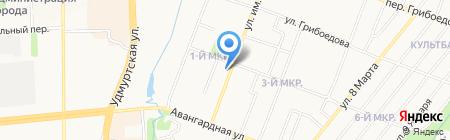 Фурни Торг на карте Ижевска