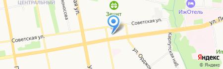 Квартирка ЕСТЬ на карте Ижевска