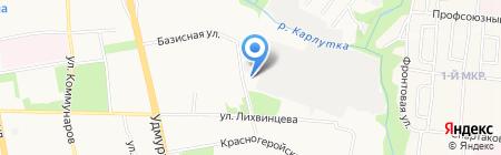 Ижевский Радиозавод на карте Ижевска