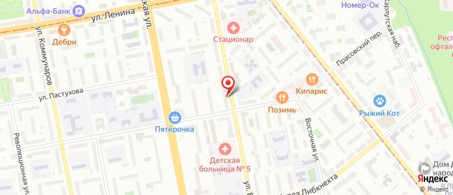 Карта расположения пункта доставки Lamoda/Pick-up в городе Ижевск