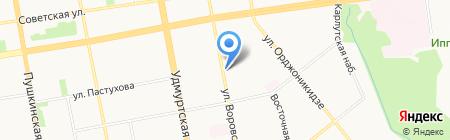 Магазин головных уборов на карте Ижевска