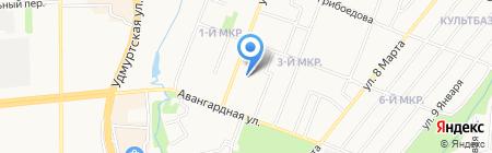 Zападня на карте Ижевска