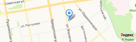 Градиент Дистрибъюция на карте Ижевска