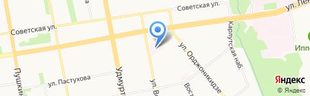 Детская городская клиническая больница №5 на карте Ижевска