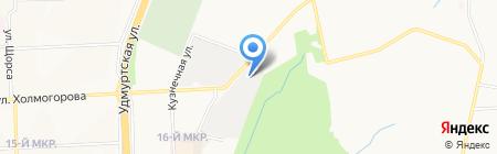 Филиал управления дорожно-строительных работ №620 на карте Ижевска