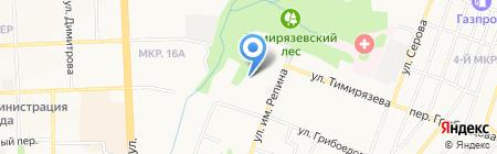 Детский сад №208 на карте Ижевска