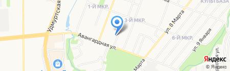Город на карте Ижевска