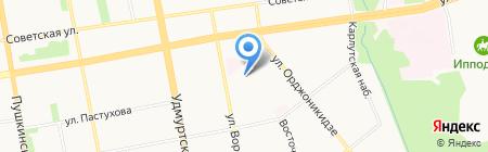 Сиена на карте Ижевска