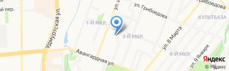 Республиканский реабилитационный центр для детей и подростков с ограниченными возможностями на карте Ижевска