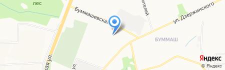 Лазерграф на карте Ижевска