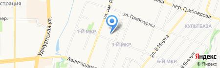 Гуманитарный лицей на карте Ижевска
